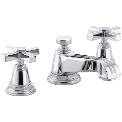 Kohler Pinstripe Widespread Lavatory Faucet with Cross Handles