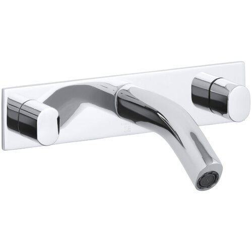 Oblo Wall-Mount Bathroom Faucet with Oval Handles
