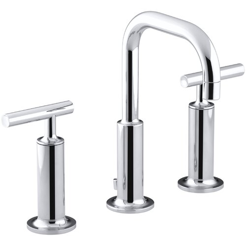 Kohler Purist Sink : Kohler Purist Widespread Bathroom Sink Faucet with High Lever Handles ...