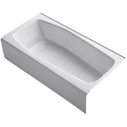 "Kohler Villager 60"" X 31"" Alcove Bath with Integral Apron and Right-Hand Drain"