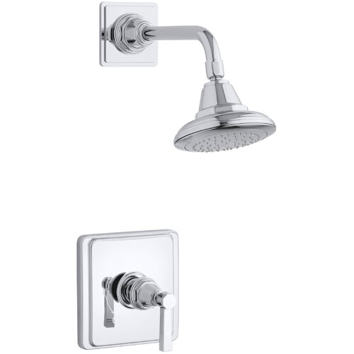 Kohler Pinstripe Pure Rite-Temp Pressure-Balancing Shower Faucet Trim with Lever Handle, Valve Not Included