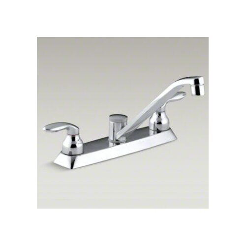 Coralais Double Handle Kitchen faucet with Metal Lever Handles