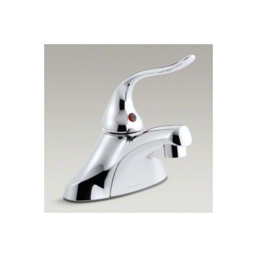 Coralais Single-Control Centerset Lavatory Faucet with Ground Joints, 0.5 GPM Spray, Grid Drain ...