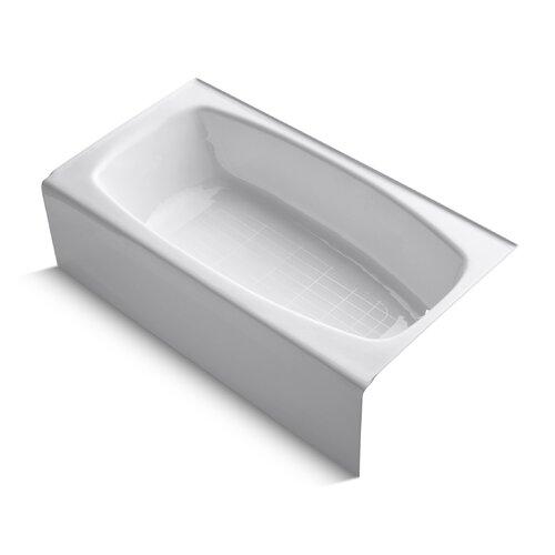"Kohler Dynametric 60"" X 32"" Alcove Bath with Right-Hand / Left-Hand Drain"