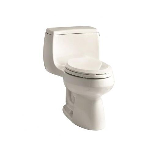 Kohler Gabrielle Comfort Height One-Piece Elongated 1.28 Gpf Toilet with AquaPiston Flush Technology and Right-Hand Trip Lever