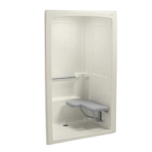 "Kohler Freewill 37.5"" x 52"" Barrier-Free Shower Module with Seat At Right"