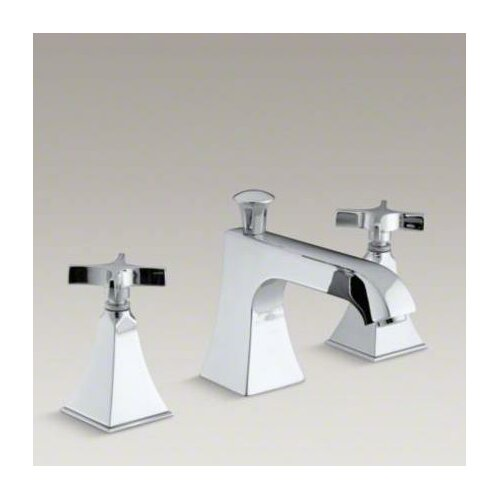 Kohler Memoirs Bath- Or Deck-Mount High-Flow Bath Faucet Trim with Cross Handles and Stately Design, Valve Not Included