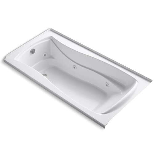 """Kohler Mariposa 72"""" X 36"""" Alcove Whirlpool with Integral Tile Flange and Left-Hand Drain"""