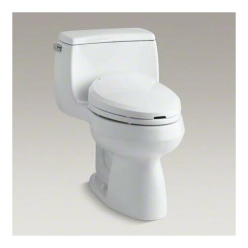 Kohler Gabrielle Comfort Height One-Piece Compact Elongated 1.28 Gpf Toilet with AquaPiston Flush Technology and Left-Hand Trip Lever