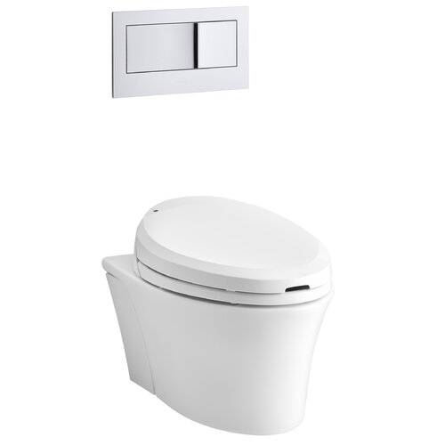 Veil One-Piece Elongated Dual-Flush Wall-Hung Toilet with C3 Toilet Seat with Bidet Functionality