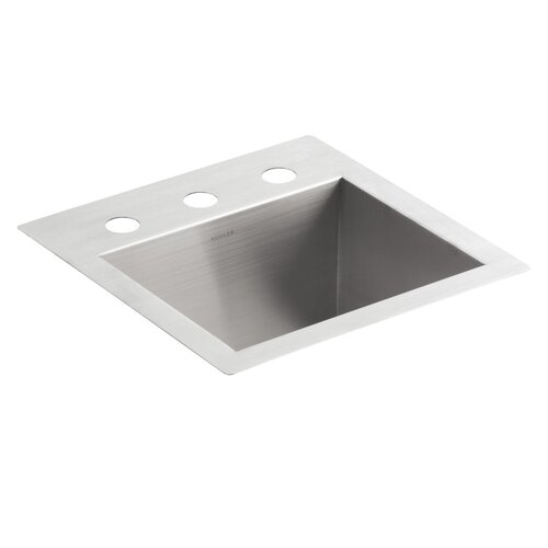 Kohler Vault Top-Mount/Under-Mount Bar Sink with 3 Faucet Holes