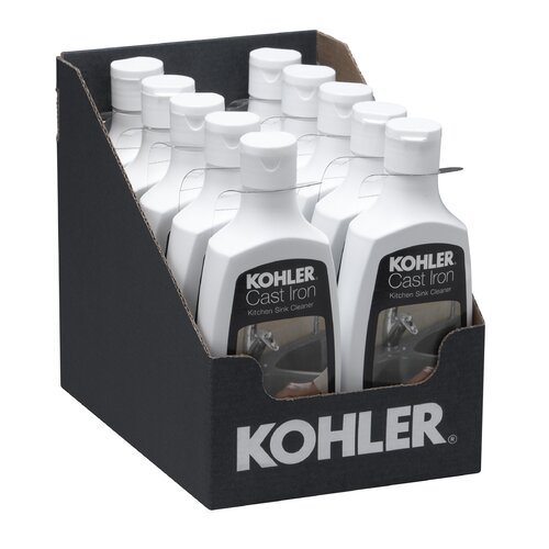 kohler cast iron kitchen sink cleaner reviews wayfair. Black Bedroom Furniture Sets. Home Design Ideas