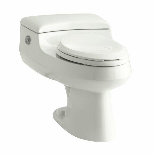 San Raphael Comfort Height One-Piece Elongated Dual-Flush Toilet with Power Lite Flush ...