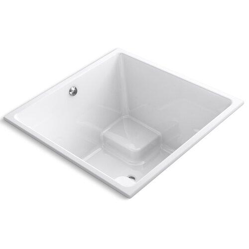 "Kohler Underscore Cube 48"" X 48"" Drop-In Bath with Center Drain"