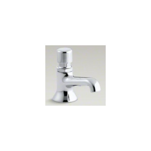 Signal Slow Self-Closing Metering Lavatory Faucet, Hot
