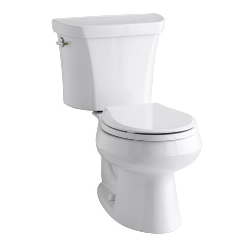 Wellworth Two-Piece Round-Front Dual-Flush Toilet with Class Five Flush Technology and ...