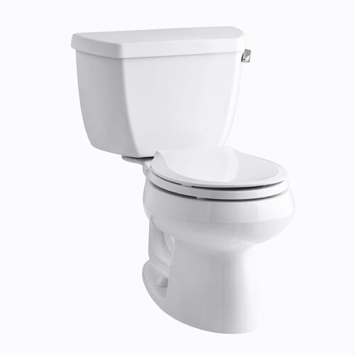 Wellworth Classic Two-Piece Round-Front 1.28 Gpf Toilet with Class Five Flush Technology, ...
