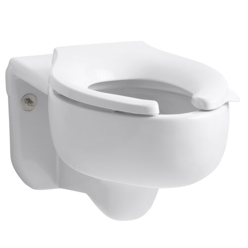 Kohler Stratton Water-Guard Wall-Hung Toilet Bowl with Top Spud, Less Seat