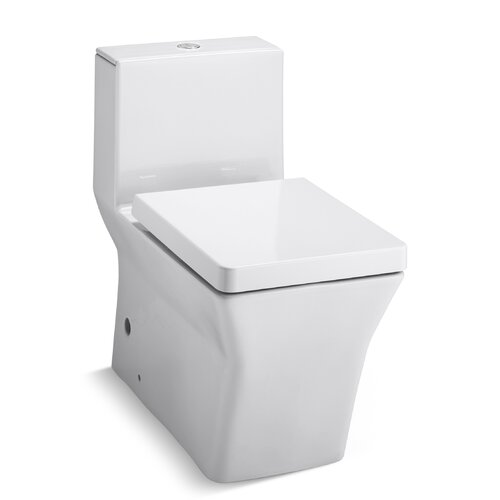 Rêve Comfort Height One-Piece Elongated Dual-Flush Toilet with Left-Hand Trip Lever