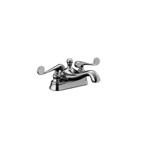 Kohler Revival Centerset Lavatory Faucet with Scroll Lever Handles