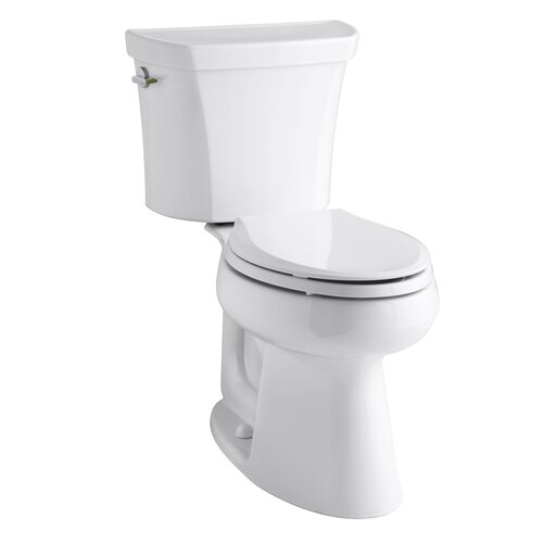 Highline Comfort Height Two-Piece Elongated Dual-Flush Toilet with Class Five Flush Technology ...