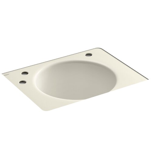 "Kohler Tandem 22"" x 12"" Under-Mount Utility Sink with 3 Faucet Holes"