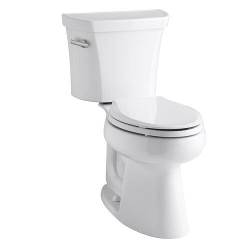 "Kohler Highline 1.28 GPF Two-Piece Comfort Height Elongated Toilet with 12"" Rough In and Tank Locks"
