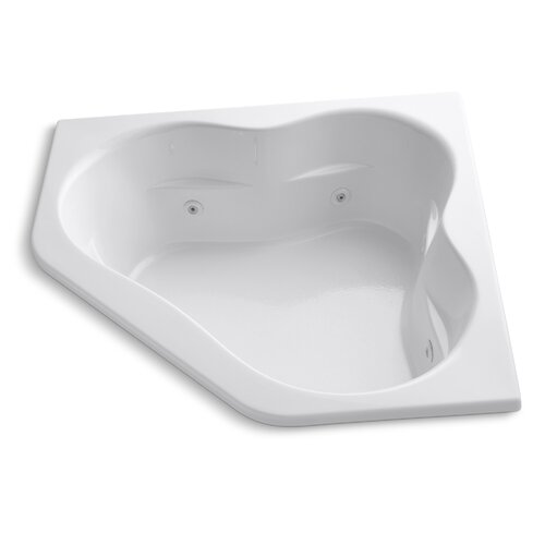 "Kohler Tercet 60"" X 60"" Drop-In Whirlpool Bath with Integral Tile Flange and Center Drain"