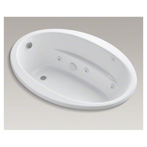 "Kohler Sunward 60"" X 42"" Drop-In Whirlpool Bath with Reversible Drain, Heater and Custom Pump Location"