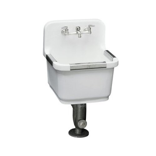 Sudbury Service Sink with Two-Hole Faucet Drilling