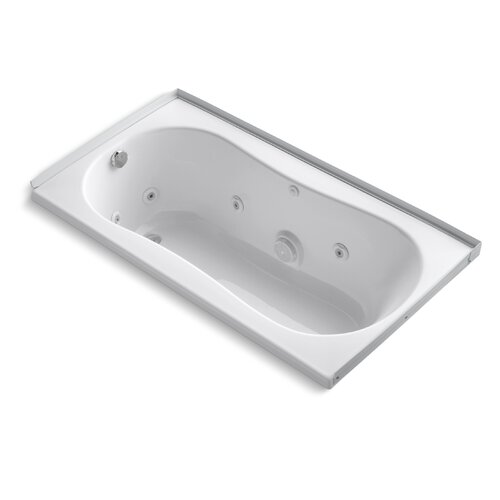 "Kohler 6032 60"" X 32"" Alcove Whirlpool Bath with Tile Flange, Left-Hand Drain and Heater"