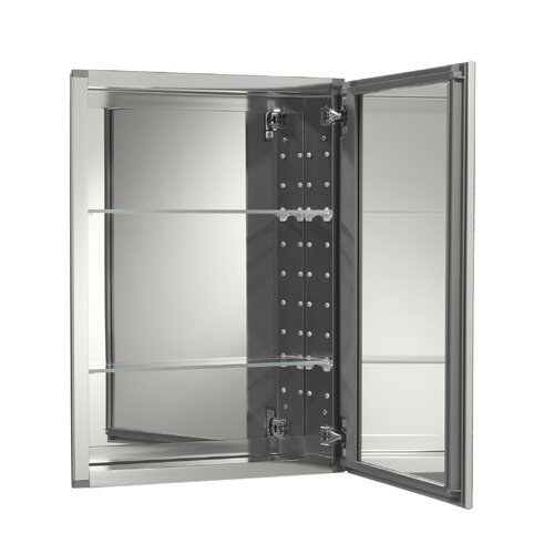 Kohler 20 Quot W X 26 Quot H Aluminum Single Door Medicine Cabinet
