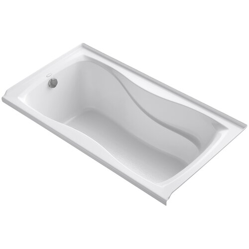 """Kohler Hourglass 60"""" X 32"""" Alcove Bath with Integral Tile Flange and Left-Hand Drain"""