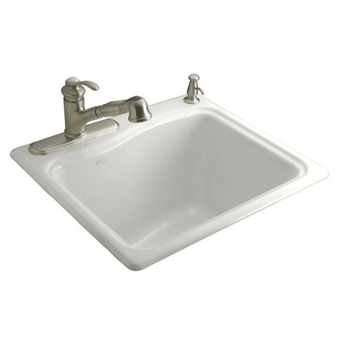 River Falls Self-Rimming Sink with Single-Hole Faucet Drilling