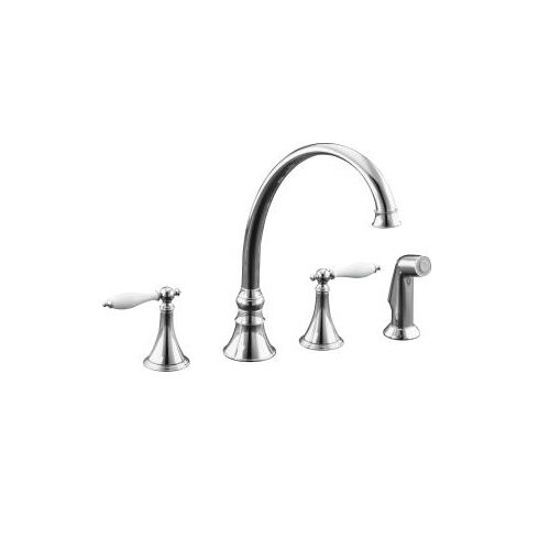 Finial Traditional Kitchen Faucet with 9-3/16