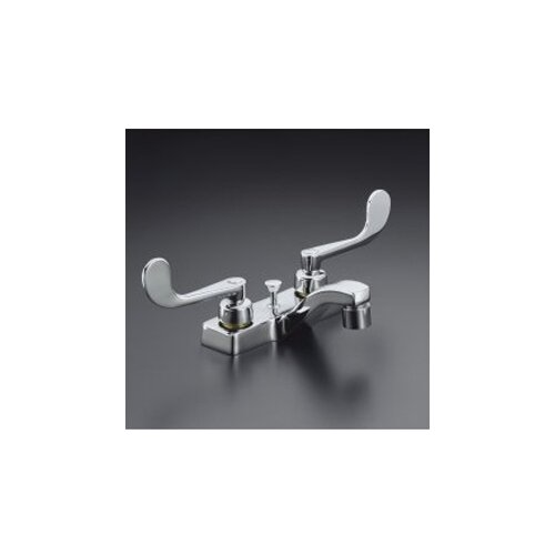 Triton Centerset Lavatory Faucet with Wristblade Lever Handles and Pop-Up Drain