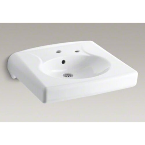 Brenham Wall-Mount Lavatory with Single-Hole Drilling and Right-Hand Soap Dispenser Hole