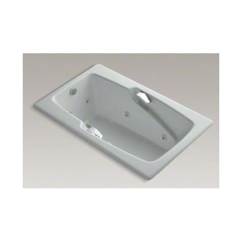 "Kohler Steeping Collection 60"" Drop In Jetted Whirlpool Bath Tub with Right Side Drain with Right Pump Placement"