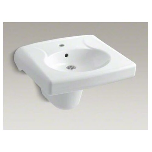 Brenham Wall-Mount Lavatory and Shroud with Single-Hole Drilling, Less Soap Dispenser Hole
