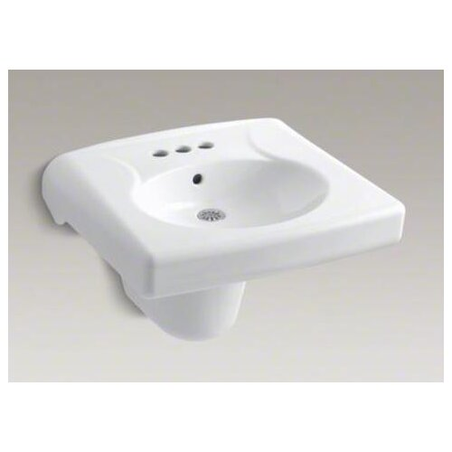 Brenham Wall-Mount Lavatory and Shroud with 4