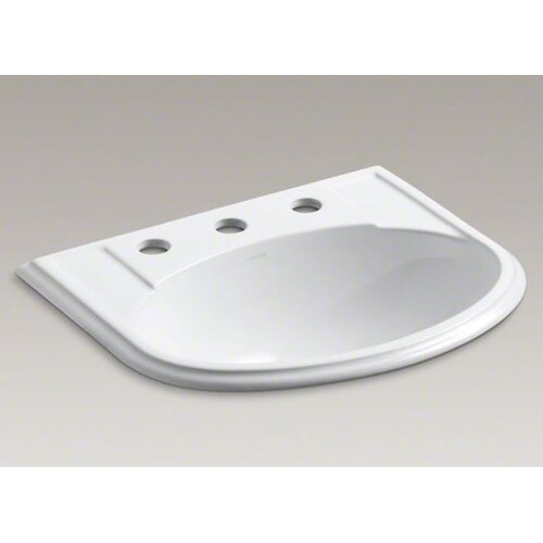 Devonshire Self-Rimming Lavatory with 4