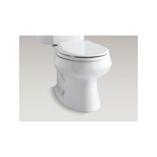 Wellworth Two-Piece Round-Front 1.6 Gpf Toilet with Class Five Flush Technology and Right-Hand ...