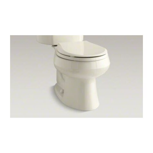 Wellworth Two-Piece Round-Front 1.6 Gpf Toilet with Class Five Flush Technology and Left-Hand ...