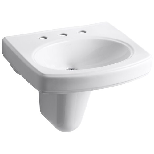 "Kohler Pinoir Wall-Mount Lavatory with 8"" Centers"