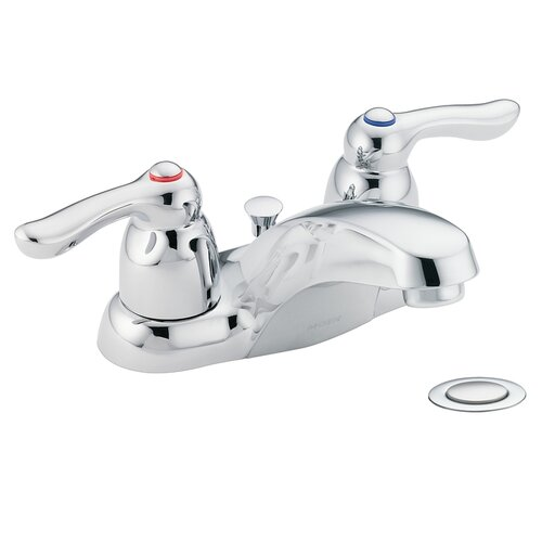 Moen Chateau Centerset Lead Compliant Bathroom Faucet with Cold and Hot Handles