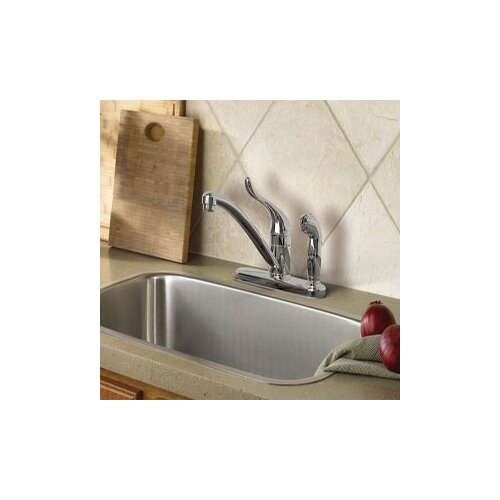 Adler One Handle Low Arc Lead Compliant Kitchen Faucet