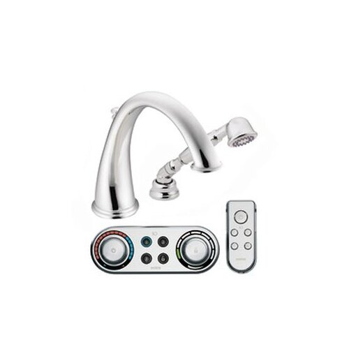 Moen Kingsley High Arc Roman Tub Faucet with Hand Shower Iodigital Technology