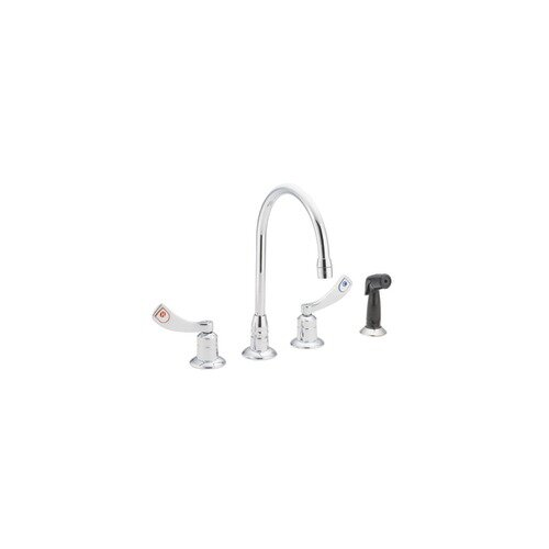 M-Dura Double Handle Widespread Kitchen Faucet with Spray