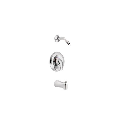 Moen Chateau Chrome Posi-Temp No Head Tub Shower Faucet Less Showerhead
