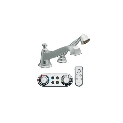 Moen Rothbury Low Arc Roman Tub Faucet with Hand Shower Iodigital Technology